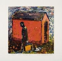 Mann forlater hus / Man Leaving House